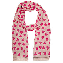 Buy Becksondergaard Juliette Heart Scarf, Pink Online at johnlewis.com