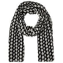 Buy Becksondergaard Zoe Circle Scarf, Black Online at johnlewis.com