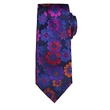 Buy Duchamp Rose Garden Floral Tie, Mid Blue Online at johnlewis.com