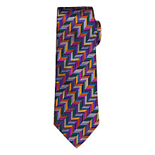 Buy Duchamp Geo Herringbone Tie, Multi Online at johnlewis.com