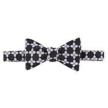 Buy Duchamp Moor Geo Evening Bow Tie, Black/White Online at johnlewis.com