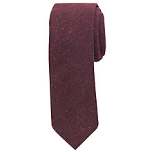 Buy John Lewis Mosley Slub Wool Tie, Wine Online at johnlewis.com