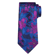 Buy Duchamp Anconite Floral Tie, Blue Online at johnlewis.com