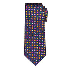 Buy Duchamp Multi Dot Tie, Dark Blue Online at johnlewis.com