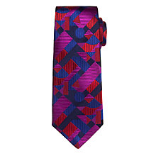 Buy Duchamp Abstract Geo Print Tie, Blue/Red Online at johnlewis.com