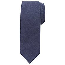 Buy JOHN LEWIS & Co. Mills Denim Hand Rolled Tie, Blue Online at johnlewis.com