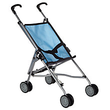 Buy John Lewis Baby Doll Pushchair, Grey/Blue Online at johnlewis.com