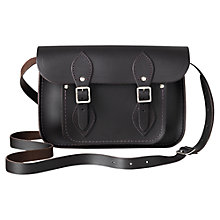 "Buy The Cambridge Satchel Company The Classic 11"" Leather Satchel Bag, Dark Brown Online at johnlewis.com"