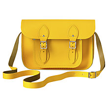 "Buy The Cambridge Satchel Company The Classic 11"" Leather Satchel Bag, Yellow Online at johnlewis.com"