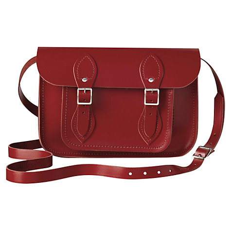 "Buy The Cambridge Satchel Company The Classic 11"" Leather Satchel Bag, Red Online at johnlewis.com"