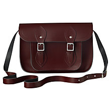 "Buy The Cambridge Satchel Company The Classic 11"" Leather Satchel Bag, Oxblood Online at johnlewis.com"
