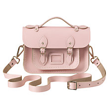 "Buy The Cambridge Satchel Company Mini 8.5"" Leather Satchel Bag, Peach Online at johnlewis.com"