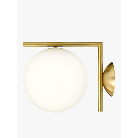 Buy flos ic c w1 wall light 20cm brushed brass john lewis for Flos bathroom light