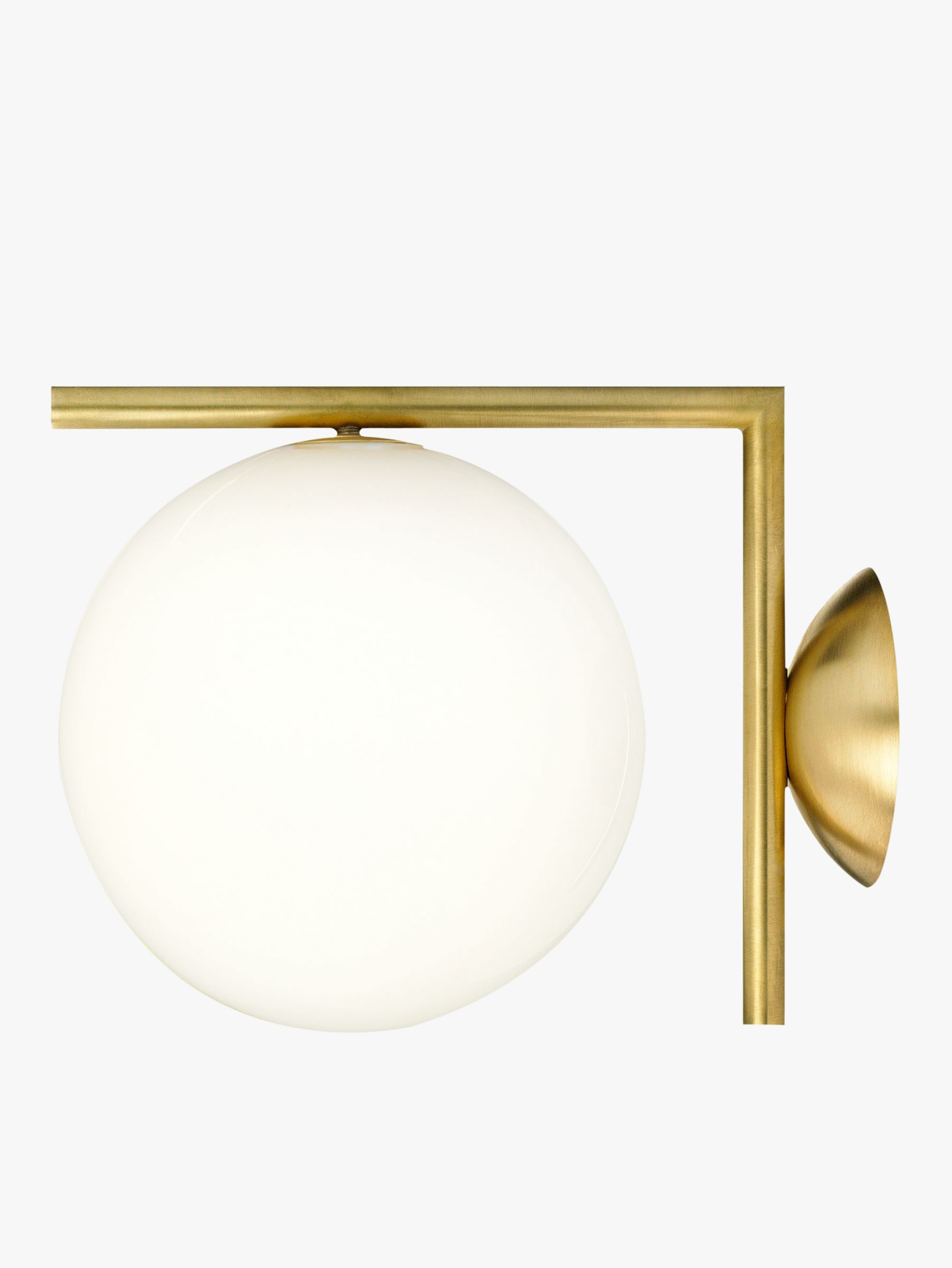 Buy Flos IC C/W1 Wall Light, 20cm, Brushed Brass John Lewis