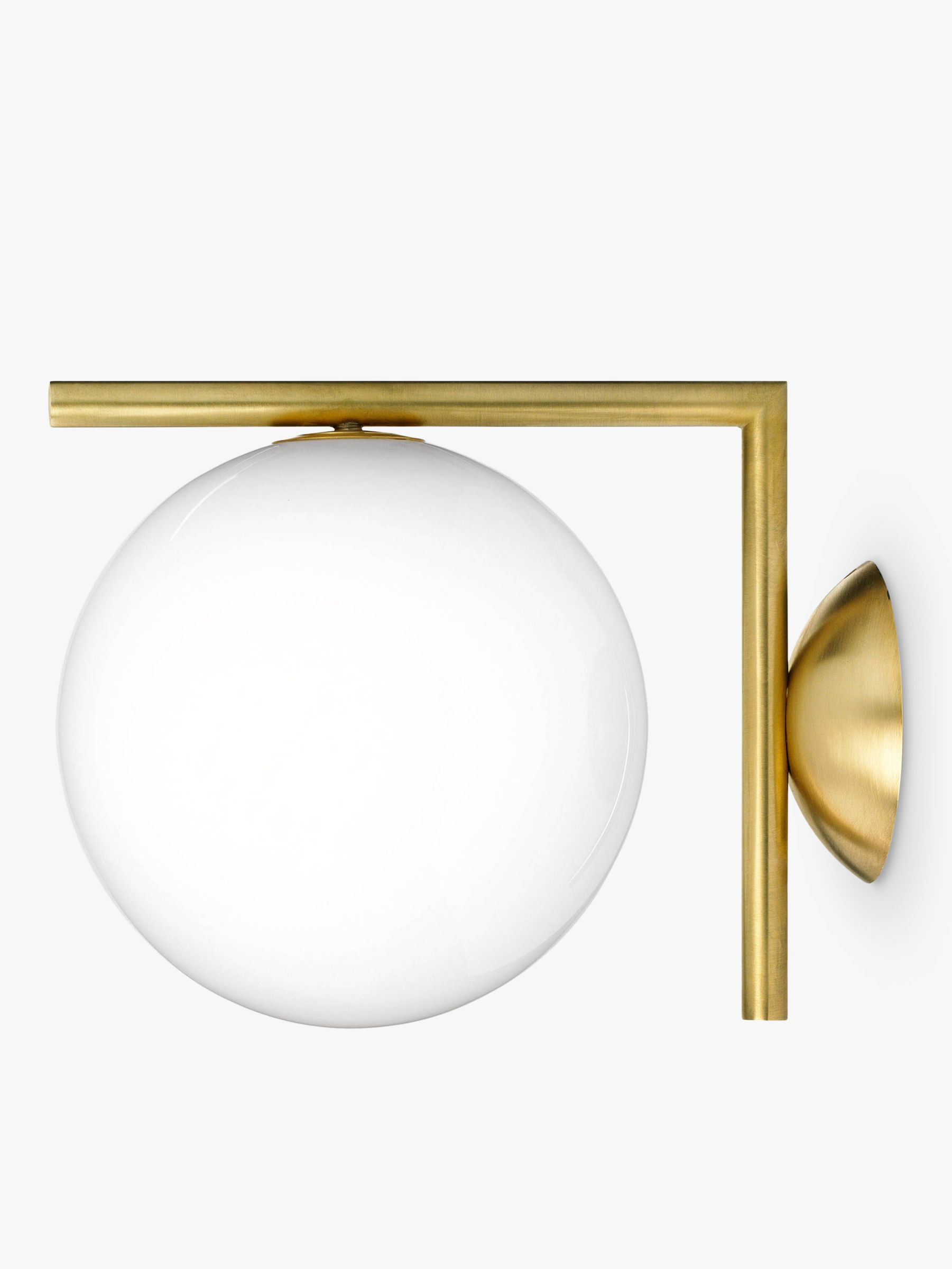 Flos Ic Lights 200 Wall Light Brushed Brass : Buy Flos IC C/W1 Wall Light, 20cm, Brushed Brass John Lewis