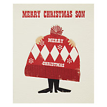 Buy Art File Bobble Hat Christmas Card Online at johnlewis.com