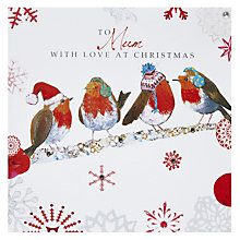 Buy Hammond Gower Mum Robin Christmas Card Online at johnlewis.com