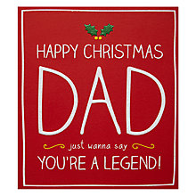 Buy Happy Jackson Dad You're a Legend Christmas Card Online at johnlewis.com