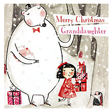 Buy Paperhouse Christmas Granddaughter Christmas Card Online at johnlewis.com