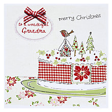 Buy Saffron Gift and Cards Grandma Merry Xmas Christmas Card Online at johnlewis.com