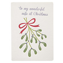 Buy Retropress Mistletoe Wife Christmas Card Online at johnlewis.com