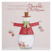 Buy Paperhouse Wonderful Daughter Christmas Card Online at johnlewis.com
