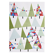 Buy Art Press Christmas Tree Garland Greeting Card Online at johnlewis.com