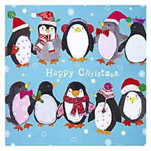 Buy Hammond Gower Penguins Christmas Card Online at johnlewis.com