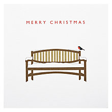 Buy LoveDay Designs Merry Christmas Bench Christmas Card Online at johnlewis.com
