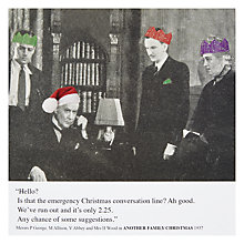Buy Drama Run Out of Convo Christmas Card Online at johnlewis.com