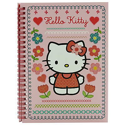 Hello Kitty Home Sweet Home A5 Notebook, Pink/Multi