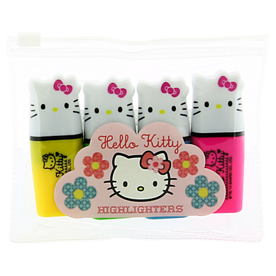Hello Kitty Home Sweet Home Highlighters, Set of 4, Multi