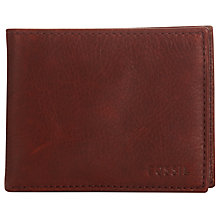 Buy Fossil Ingram Leather Billfold Zip Wallet, Wine Online at johnlewis.com