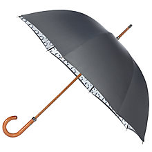 Buy London Undercover Premium Pigeon Monogram Umbrella, Grey Online at johnlewis.com