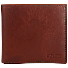 Buy Fossil Conner Card Bifold Wallet, Cognac Online at johnlewis.com