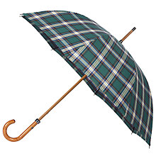 Buy London Undercover Premium Premium Plaid Umbrella, Green Online at johnlewis.com