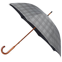 Buy London Undercover Classic Prince Of Wales Umbrella, Black Online at johnlewis.com