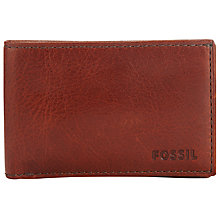 Buy Fossil Connor Leather Coin Pocket Wallet, Cognac Online at johnlewis.com