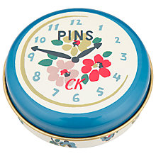Buy Cath Kidston Clocks Pin Tin Online at johnlewis.com