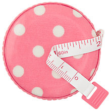 Buy Cath Kidston Pink Dot Tape Measure, Pink Online at johnlewis.com