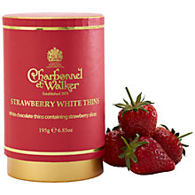 Buy Charbonnel et Walker Strawberry White Chocolate Thins, 195g Online at johnlewis.com