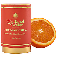 Buy Charbonnel et Walker Orange Milk Chocolate Thins, 195g Online at johnlewis.com