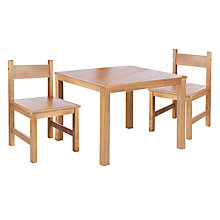 Buy John Lewis Children's Table and Chairs Set, Natural Online at johnlewis.com