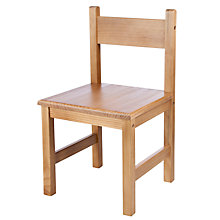 Buy John Lewis Children's Chair, Dark Wood Online at johnlewis.com