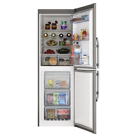 Buy John Lewis JLFFS1820 Fridge Freezer, A+ Energy Rating, 60cm Wide, Stainless Steel Online at johnlewis.com