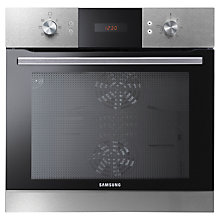 Buy Samsung NV70H3583LS Dual Cook Single Electric Oven, Stainless Steel Online at johnlewis.com