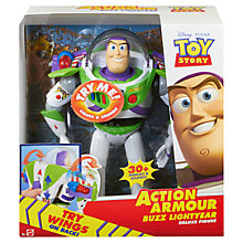 Buy Disney Toy Story Action Armour Buzz Lightyear Online at johnlewis.com