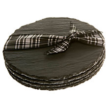 Buy Just Slate Round Coasters, Set of 4 Online at johnlewis.com