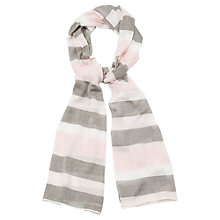 Buy Viyella Multi Stripe Scarf, Pink Online at johnlewis.com