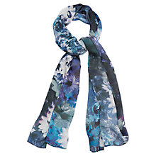 Buy Viyella Rose Print Silk Scarf, Violet Online at johnlewis.com